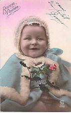 Buy Young Baby Girl Happy Birthday Tinted Photo Used Postcard