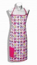 Buy :10566U - Colorful Hearts Apron w/Pocket Cotton