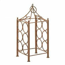 Buy *15378U - Pavilion Style Rustic Iron Corral 6 Bottle Wine Holder