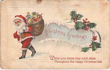 Buy A Merry Christmas Santa Claus Embossed Vintage Postcard