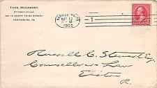 Buy 1900 Barry Cancel Harrisburg PA to Easton PA & Rare Hampden Machine Received BS