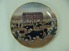 Buy Franklin Mint Spring Pasture American Folk Art Collectilon Cow Plate Ltd Edition