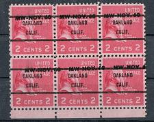 Buy Montgomery Ward Oakland, CA Block of 6 3c Adams Prexie
