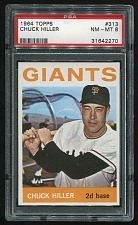 Buy 1964 TOPPS CHUCK HILLER #313, PSA 8 NM-MT (31642270)