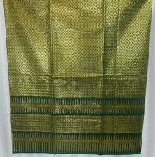 Buy Thai Tradition Green Synthetic Silk Fabric For Top Skirt Wedding dress C14