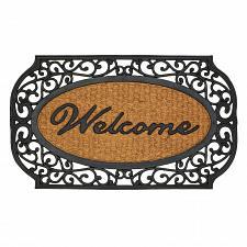 """Buy *17419U - Welcome Rubber & Coir 30"""" Door Mat Openwork Grill Framed"""