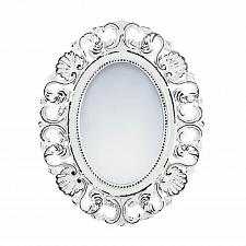 Buy *18071U - Off-White Distressed Oval Scallop Wood Frame Wall Mirror