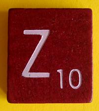 Buy Scrabble Tiles Replacement Letter Z Maroon Burgundy Wooden Craft Game Part Piece