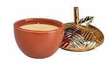 Buy :10870U - Gilded Acorn Figure Pumpkin Soufflé Scented Candle Ceramic Cup