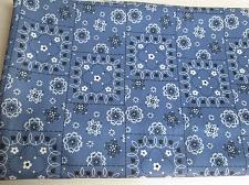 Buy Vintage Double Knit Polyester Fabric Lightweight MOD BLUE FLORAL 62w x 42