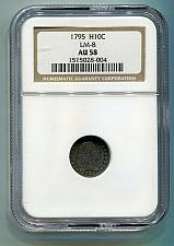 Buy 1795 FLOWING HAIR HALF DIME NGC AU 58 LM-8 R-3 ORIGINAL COIN FROM BOBS COINS
