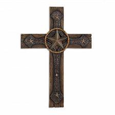 Buy 15026U - Rustic Cowboy Polyresin Wall Cross