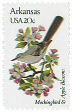 Buy 1982 20c State Birds & Flowers, Arkansas, Apple Blossom Scott 1956 Mint F/VF NH