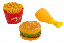 Buy :10945U - Squeaky Fast Food Pet Toys 3 Pack