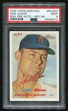 Buy 2006 TOPPS HERITAGE REAL ONE RED AUTO KARL OLSON PSA 9 MINT (28598570)