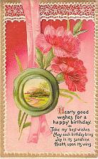 Buy A Happy Birthday Embossed Vintage Postcard