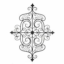 Buy *18759U - Scrollwork Curls Black Iron Wall Plaque