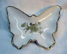 Buy Butterfly Candy Trinket Vanity Dish Handpainted Gold Roses Vintage Japan g24i