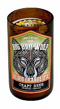 Buy :10875U - Blood Orange Ipa Beer Scented Pillar Brown Glass Jar Candle