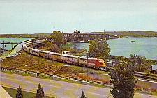 Buy Santa Fe Railroad Bridge over Mississippi River, Madison Iowa Vintage Postcard