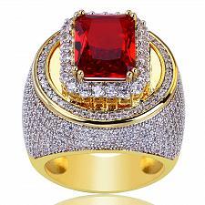 Buy Elvis Presley Aloha Hawaii Concert TCB 1973 NR Wedding Gold GP Red Sz 7-10 Ring