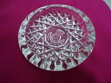 Buy Scottish Thistle Clear Glass Trinket Butter Pat Pin Dish Coaster