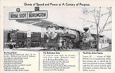 Buy Century of Progress in Burlington Route Locomotives Vintage Postcard