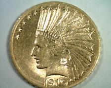 Buy 1910-D TEN DOLLAR INDIAN HEAD GOLD CHOICE ABOUT UNCIRCULATED++ CH AU++ ORIGINAL