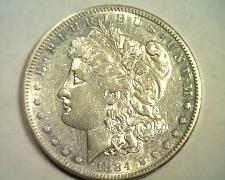 Buy 1884-S MORGAN SILVER DOLLAR ABOUT UNCIRCULATED AU NICE ORIGINAL COIN BOBS COINS