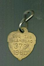 Buy Vintage DOG License Brass Tag Township of Glanford 1960 373