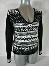 Buy AEROPOSTALE womens Medium L/S black white WOOL BLEND sweater (B2)P