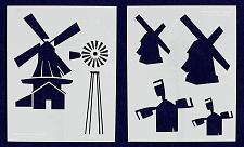Buy Windmill Stencils - 2 Pc set- 14 Mil Mylar