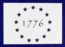 Buy 1776 13 Star Stencil-4.875 x 6.88 G-Spec Painting/Crafts/ Templates