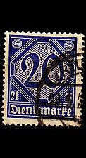 Buy GERMANY REICH Dienst [1920] MiNr 0019 a ( O/used )