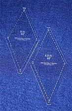 "Buy Diamond Templates 2 Pc Set No Tips 6"" & 6.5""- Clear 1/8"" 45 Degree"