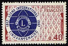 Buy France #1196 Lions International; Unused (1Stars) |FRA1196-01XVA