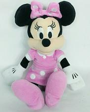 "Buy Disney Minnie Mouse Just Play Pink White Polka Dot Plush Stuffed Animal 10"""