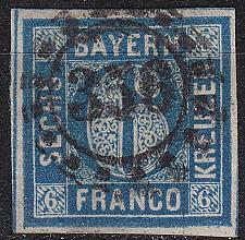 Buy GERMANY Bayern Bavaria [1862] MiNr 0010 a ( O/used ) [05]