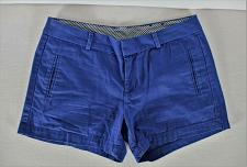 Buy STYLUS womens Sz 4 W30 blue KHAKI cotton eyelet zip up shorts (B6)P