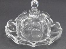 Buy American Brilliant Period Cut Glass cheese dish FLUTED CUT Antique ABP