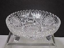 Buy ABP cut glass 3 legged bowl bowl American brilliant