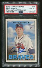 Buy 2016 TOPPS HERITAGE REAL ONE AUTO AARON BLAIR, PSA 10 GEM MINT (41680225)