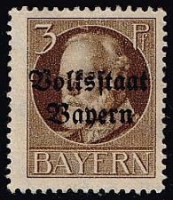 Buy Germany-Bavaria #136 King Ludwig III; Unused No Gum (0.25) (1Stars) |BAY136-01XVA