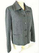 Buy AMERICAN LIVING womens Medium L/S gray black WOOL blend button down jacket (B3)P