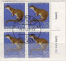 Buy SCHWEIZ SWITZERLAND [1967] MiNr 0869 4er ( O/used ) [01] Pro Juventute Text