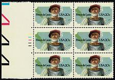 Buy US #2024 Ponce de Leon P# Block of 6; MNH (3.00) (5Stars) |USA2024pb6-02