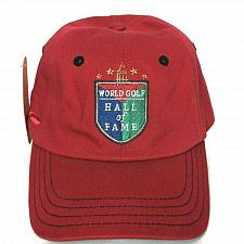 Buy NWT World Golf Hall Of Fame Mens Golf Red Strapback Hat Cap