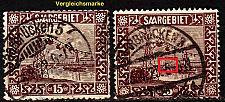 Buy GERMANY Saar [1922] MiNr 0087 PF III ( O/used ) Plattenfehler