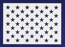 "Buy 50 Star Field Stencil 14 Mil -US G Spec 5 1/4"" x 7.41"" Long Star Field- Painting"