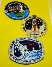Buy Lot of 3 Vintage Space Shuttle Patches, Challenger & Columbia (NASA) RARE